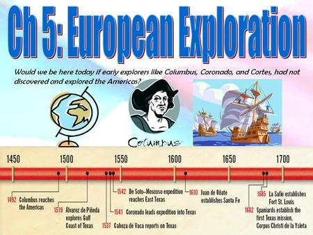 Would we be here today if early explorers like Columbus, Coronado, and Cortes, had not discovered and explored the Americas?