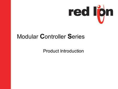 Modular C ontroller S eries Product Introduction.