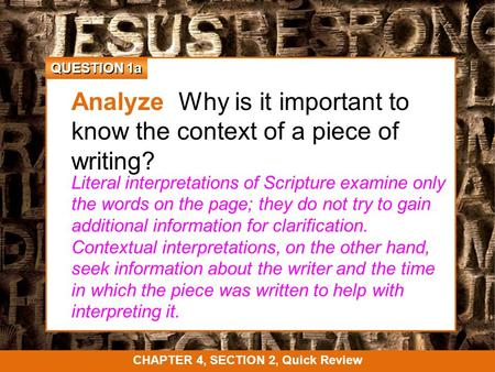 the importance of scripture essay Why is daily prayer important  the importance of daily communication through prayer cannot be overestimated  scripture makes it very clear:.
