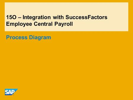 15O – Integration with SuccessFactors Employee Central Payroll