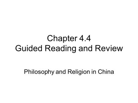 asian religions readings
