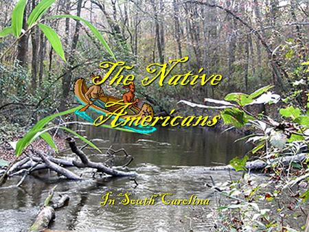 The Native Americans In South Carolina. How did they get here? During the ice age, lots of the world's water became frozen at the north and south pole.