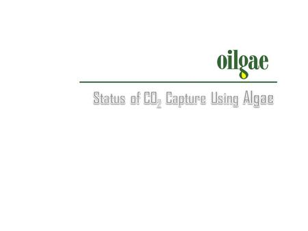 Objective To analyze algae-based CO 2 capture technology, its status, viability and future.