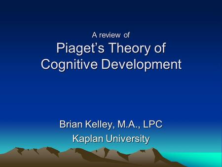 developmental school of thought Psychological schools of thought timeline structuralism  one of the most influential theories from this school of thought was the stages of cognitive development theory proposed by jean piaget studies mental processes including how people think, perceive, remember and learn.