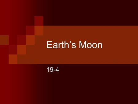 Earth's Moon 19-4. The Moon There is no atmosphere on the moon. Temperatures on the surface range from over 100°C to -170°C. To survive on the moon the.