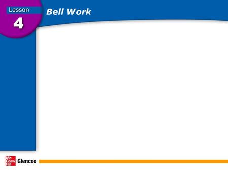 Bell Work. Developing a Personal Fitness Program In this lesson, you will Learn About… The factors to consider when planning a fitness program. How to.