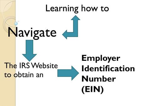 Learning how to The IRS Website to obtain an Navigate Employer Identification Number (EIN)