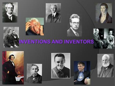 INVENTIONS AND INVENTORS To raise new questions, new possibilities, to regard old questions from a new angle, requires creative imagination and marks.