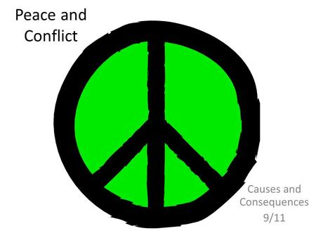 Peace and Conflict Causes and Consequences 9/11. LEARNING OBJECTIVES  To be able to explain to another student, your ideas of the causes of the 9/11.