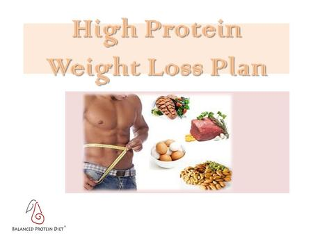 High Protein Weight Loss Plan. is an easy to follow, self managed diet program.