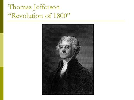 History: Thomas Jefferson and Chapter