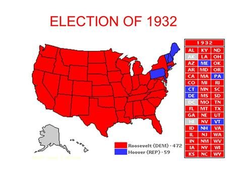 ELECTION OF 1932. WHO WAS FDR? Franklin Delano Roosevelt Cousin of former President Teddy Roosevelt Born in 1882 at Hyde Park, New York-- now a national.