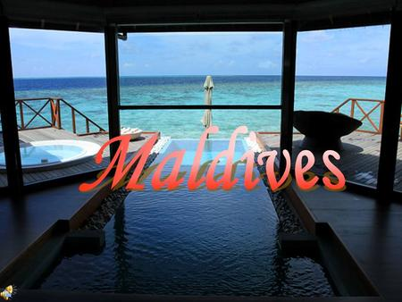 Beautiful Maldives Blue sky sand beach wide sea The Maldive located 300 miles southwest of the southern tip of India and 450 miles west of Sri Lanka.