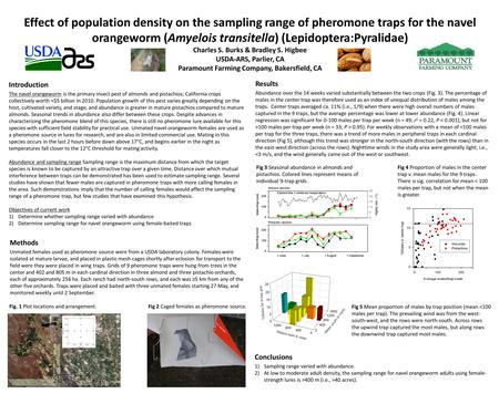 Effect of population density on the sampling range of pheromone traps for the navel orangeworm (Amyelois transitella) (Lepidoptera:Pyralidae) Charles S.