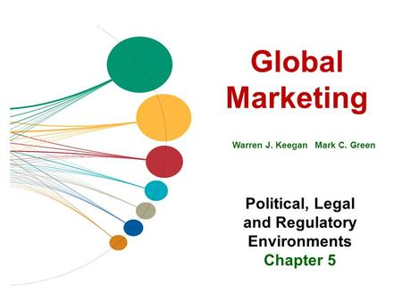 Global Marketing Warren J. Keegan Mark C. Green Political, Legal and Regulatory Environments Chapter 5.