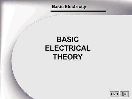 END BASIC ELECTRICAL THEORY Basic Electricity. 1 THE ATOM AND ITS STRUCTURE.