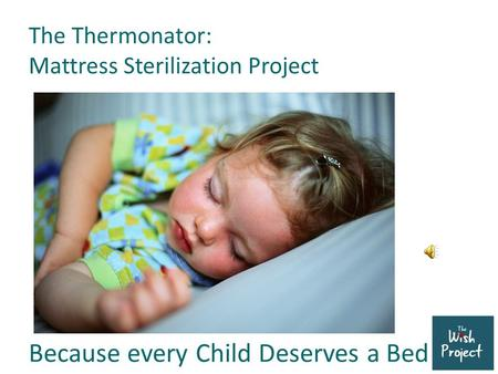 The Thermonator: Mattress Sterilization Project Because every Child Deserves a Bed.