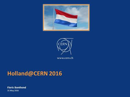2016 Floris Bonthond 31 May 2016. Agenda – Procurement at CERN 2 What does CERN buy? Procurement budget Industrial Return and Return Coefficients.