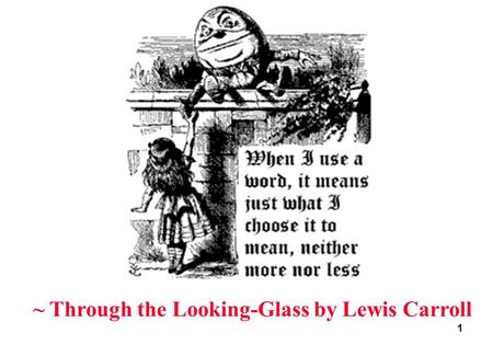 1 ~ Through the Looking-Glass by Lewis Carroll 2 Linear Motion of a Segment translation of the body such that its orientation in space does not change.