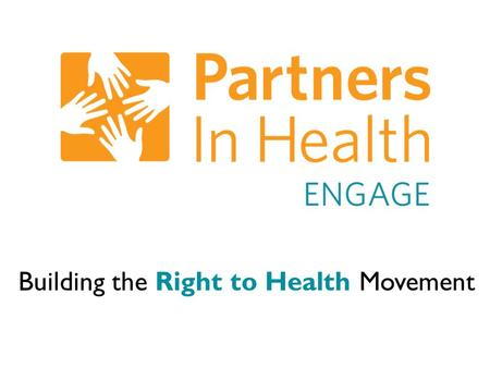 Building the Right to Health Movement. 1:1 Meetings and the Hard Ask.