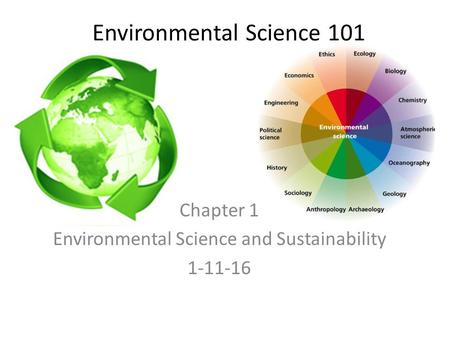 Environmental Science 101 Chapter 1 Environmental Science and Sustainability 1-11-16.