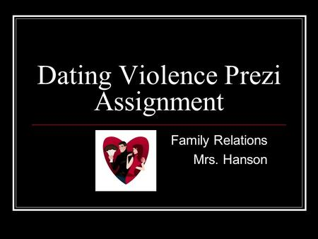 Dating violence webquest