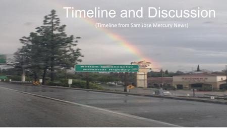 Timeline and Discussion (Timeline from Sam Jose Mercury News)