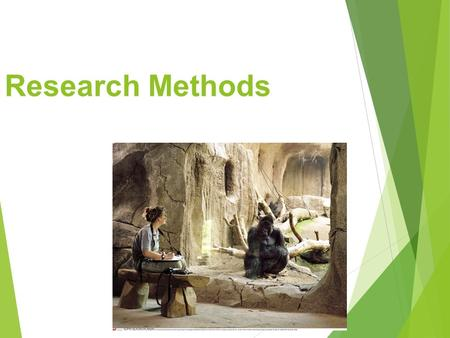 Research Methods. The Need for Psychological Science.