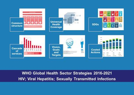 WHO Global Health Sector Strategies 2016-2021 HIV; Viral Hepatitis; Sexually Transmitted Infections Common structure Universal Health Coverage SDGs Cascade.