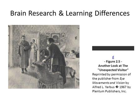 Brain Research & Learning Differences d - Figure 2.5 - Another Look at The Unexpected Visitor Reprinted by permission of the publisher from Eye Movements.