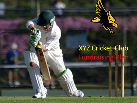 XYZ Cricket Club Fundraising Plan. Summary of Steps Step 1: Designate a Fundraising Coordinator Step 2: Set your Parameters Step 3: Identify your Fundraising.