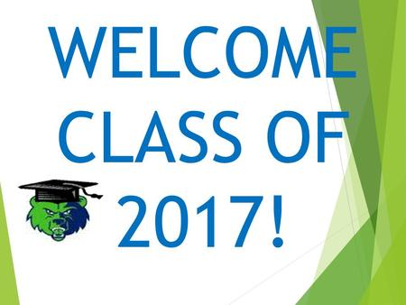 WELCOME CLASS OF 2017!. THAT'S GREAT, BUT I HAVEN'T EVEN THOUGHT ABOUT THIS YET!  It's time to make some decisions.  Technical College? 2-Year College?