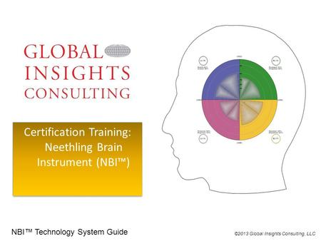 Certification Training: Neethling Brain Instrument (NBI™) ©2013 Global Insights Consulting, LLC NBI™ Technology System Guide.