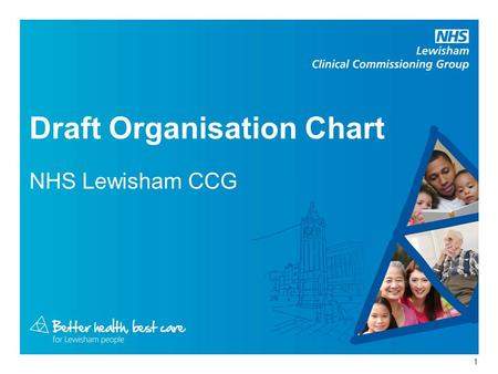 Draft Organisation Chart NHS Lewisham CCG 1. Chief Officer Martin Wilkinson Corporate Director Susanna Masters Business & development support for CCG/