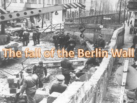 INTRODUCTION In august of 1961 was built a wall that separated Germany in East Germany or German Democratic Republic and West Germany or German Federal.