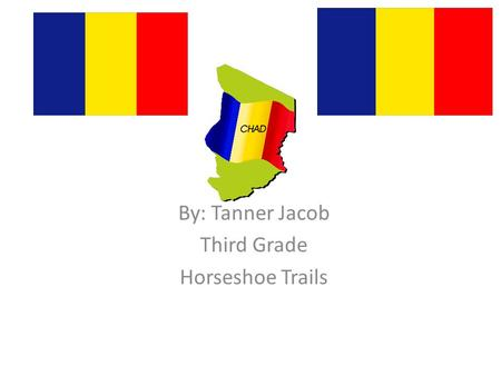 Chad By: Tanner Jacob Third Grade Horseshoe Trails.