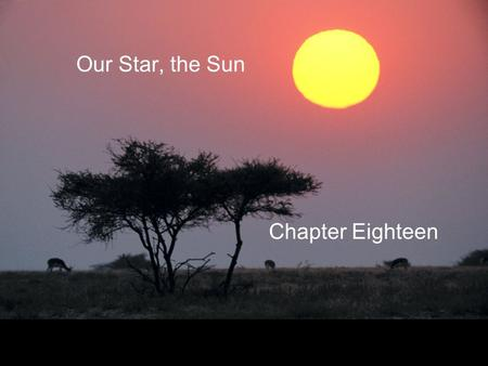 Our Star, the Sun Chapter Eighteen. Guiding Questions 1.What is the source of the Sun's energy? 2.What is the internal structure of the Sun? 3.How can.