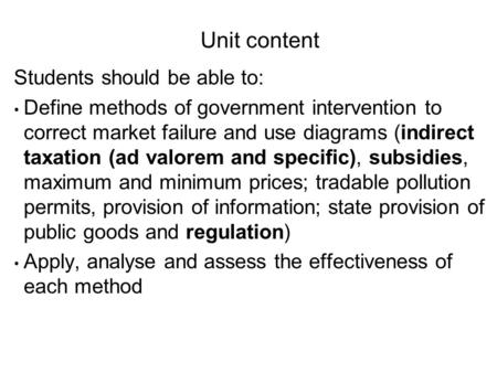 market failure and government intervention essay