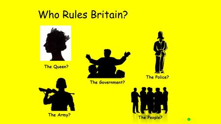 Who Rules Britain? The Queen? The Government? The Police? The Army? The People?