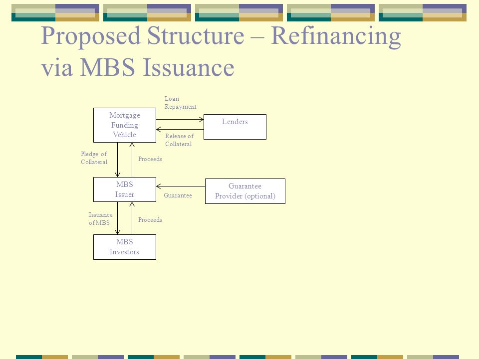 Key Features of Conduit Funding provided via a revolving structured loan facility, refinanced by issuing MBS This funding used to fund new origination (meeting required standards) Each mortgage lender has its own SPV SPV will own the assets, lenders will originate service Would begin with loans from 4 banks in Croatia & Bulgaria (due diligence nearly complete)