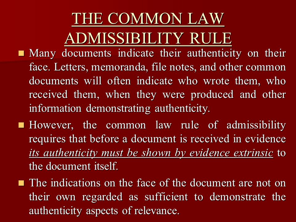 This rule is little discussed in Commonwealth textbooks, though it is comprehensively dealt with in United States texts.