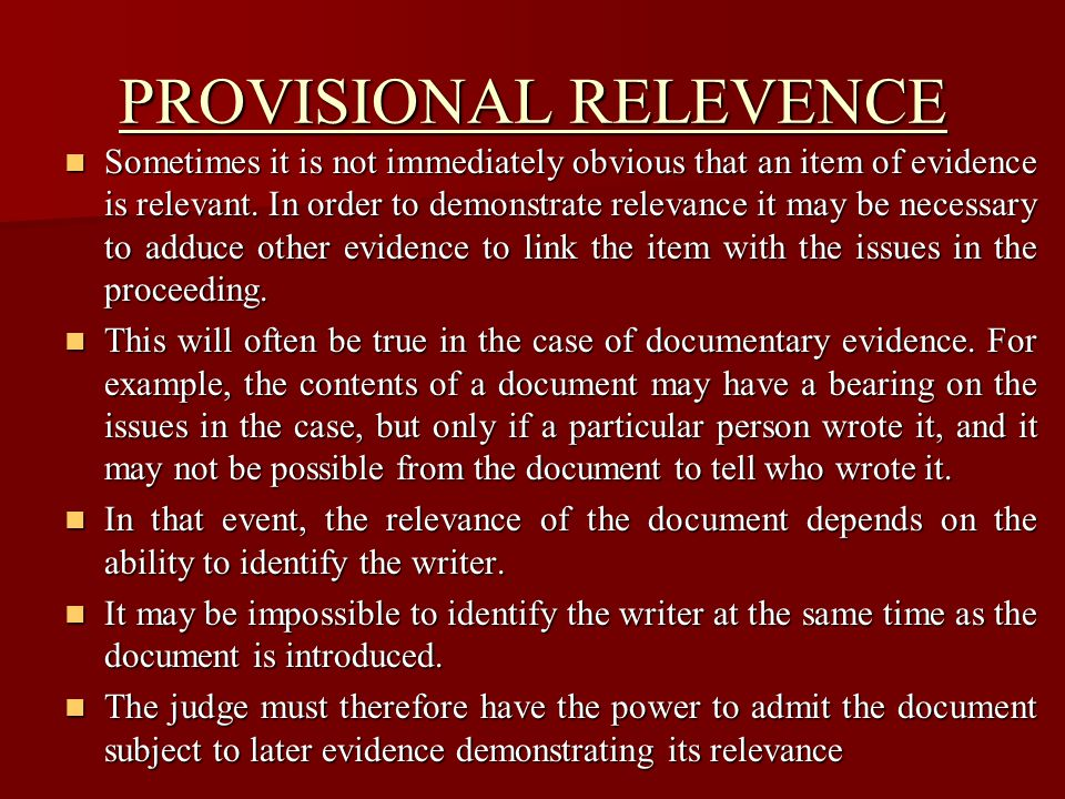 PRESUMPTIONS Our law makes considerable use of presumptions.
