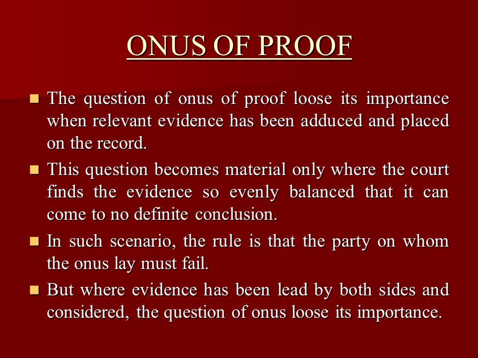 BOP IN CIVIL & CRIMINAL CASES In general, the rules of evidence in civil & criminal cases are the same, but some provisions in QSO are peculiar to criminal and other peculiar to civil cases.