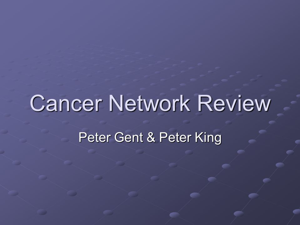 Do We Need A Regional Overview Of Cancer Services.