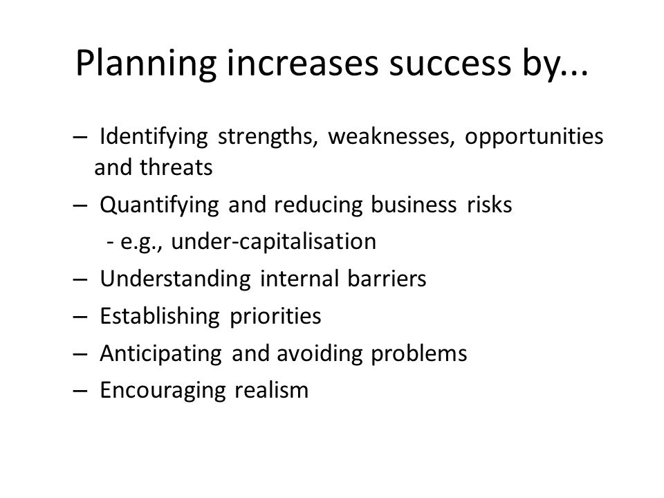 Plans guide management by....