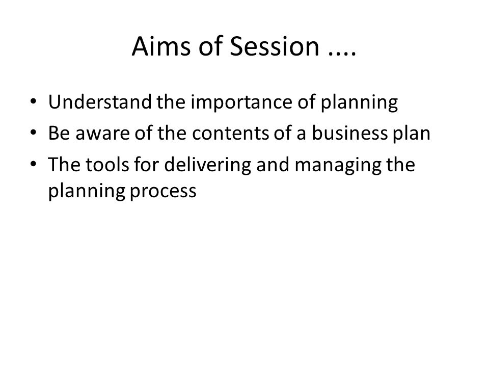 Specifically we will ask....What is a business plan .