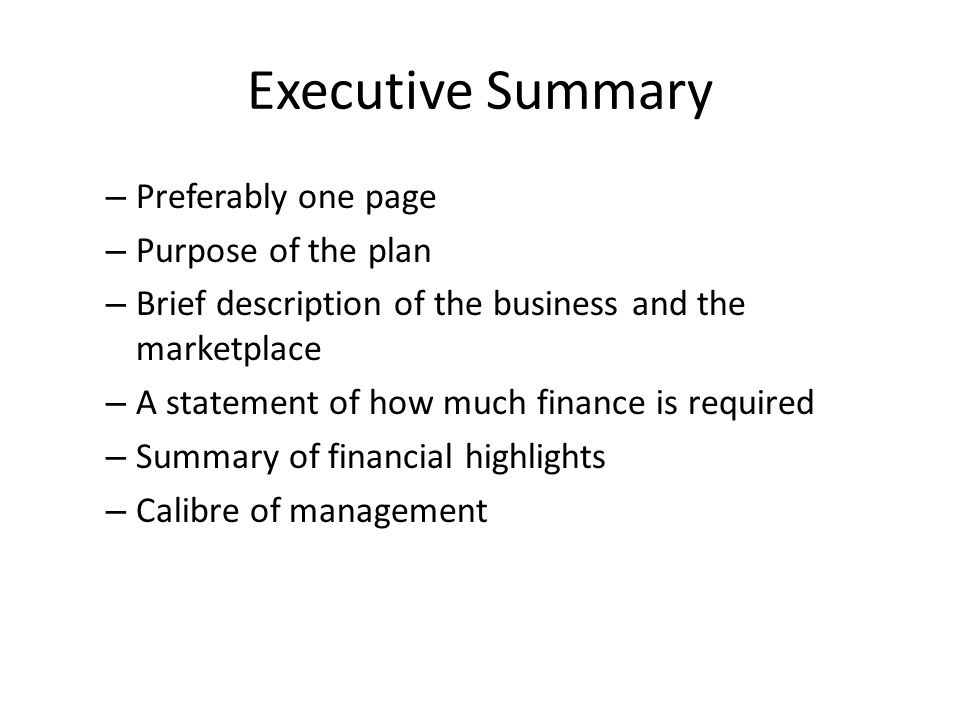 Company/business History Length of time in operation and progress to date Ownership structure Legal capital, equity, loans, options involvement of shareholders Location, contact details