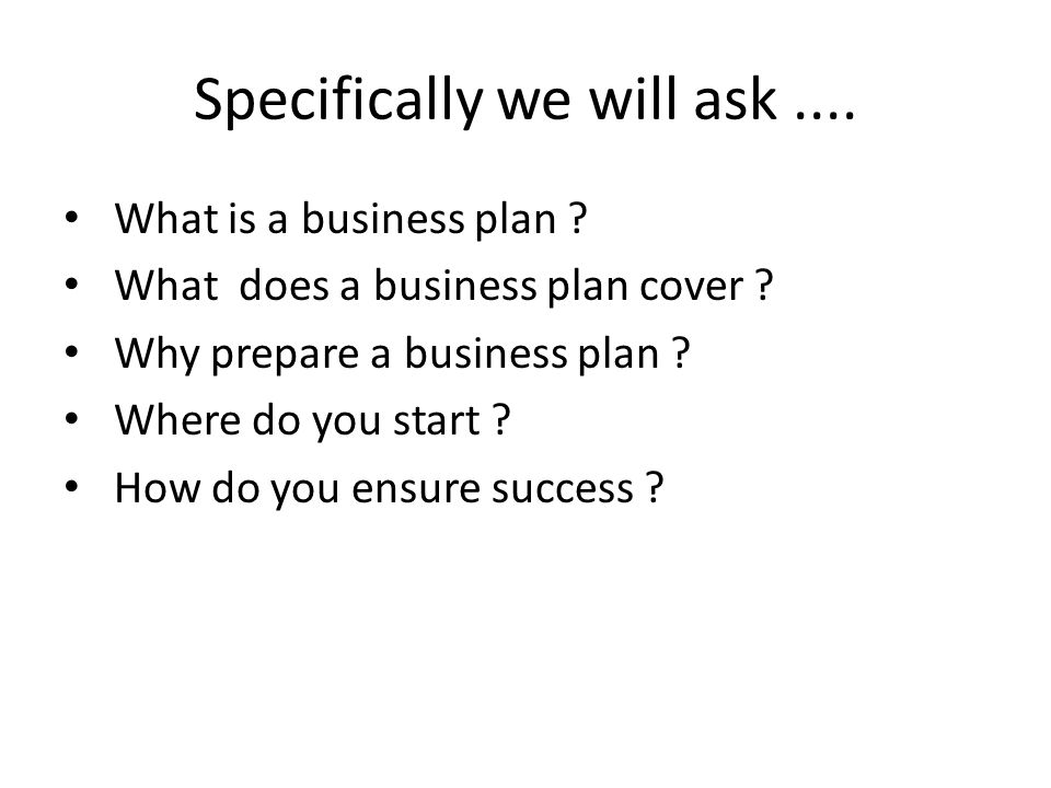 What is a Business Plan .