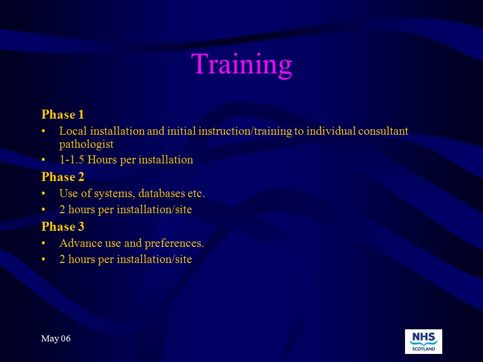 May 06 What will you get? 1.Digital Camera 2.Associated software 3.Installation and training