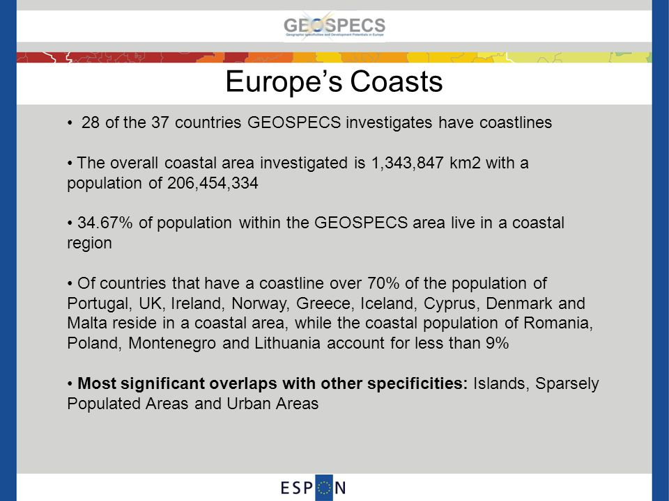 Development opportunities and challenges in coastal areas ChallengesGeographic Specificity Opportunities Competition for space (e.g.